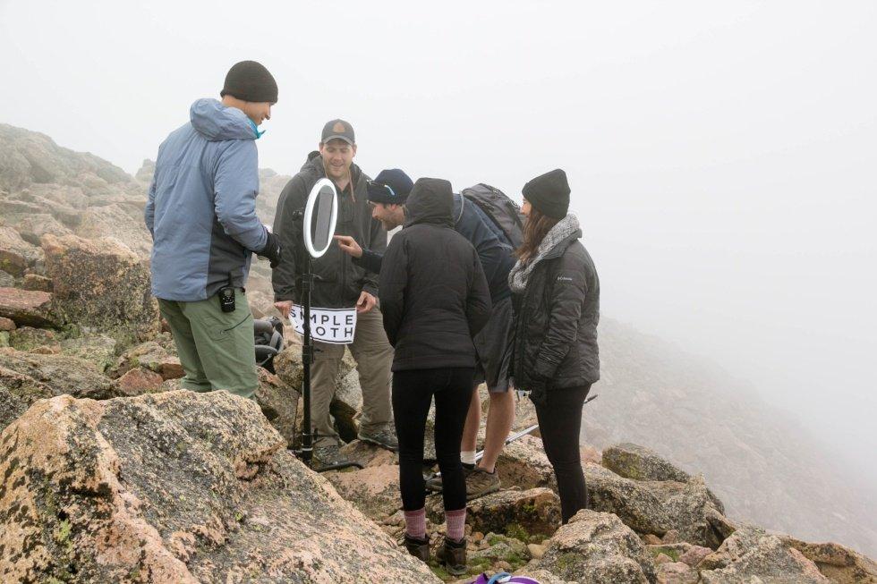 People on mountain around HALO