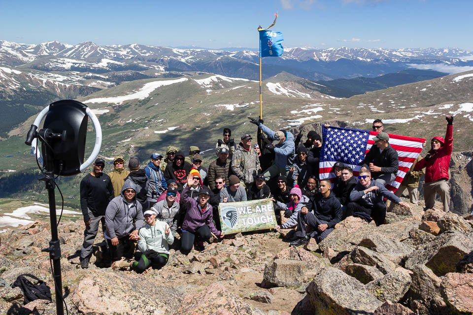 Group photo at Mount Bierstadt summit