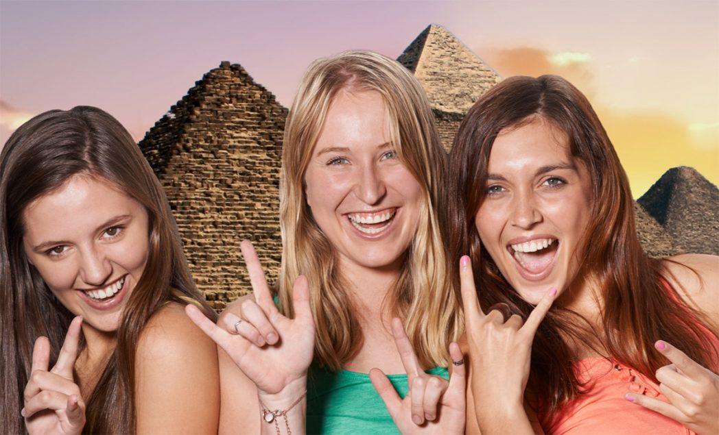 Green Screen Egyptian Pyramids