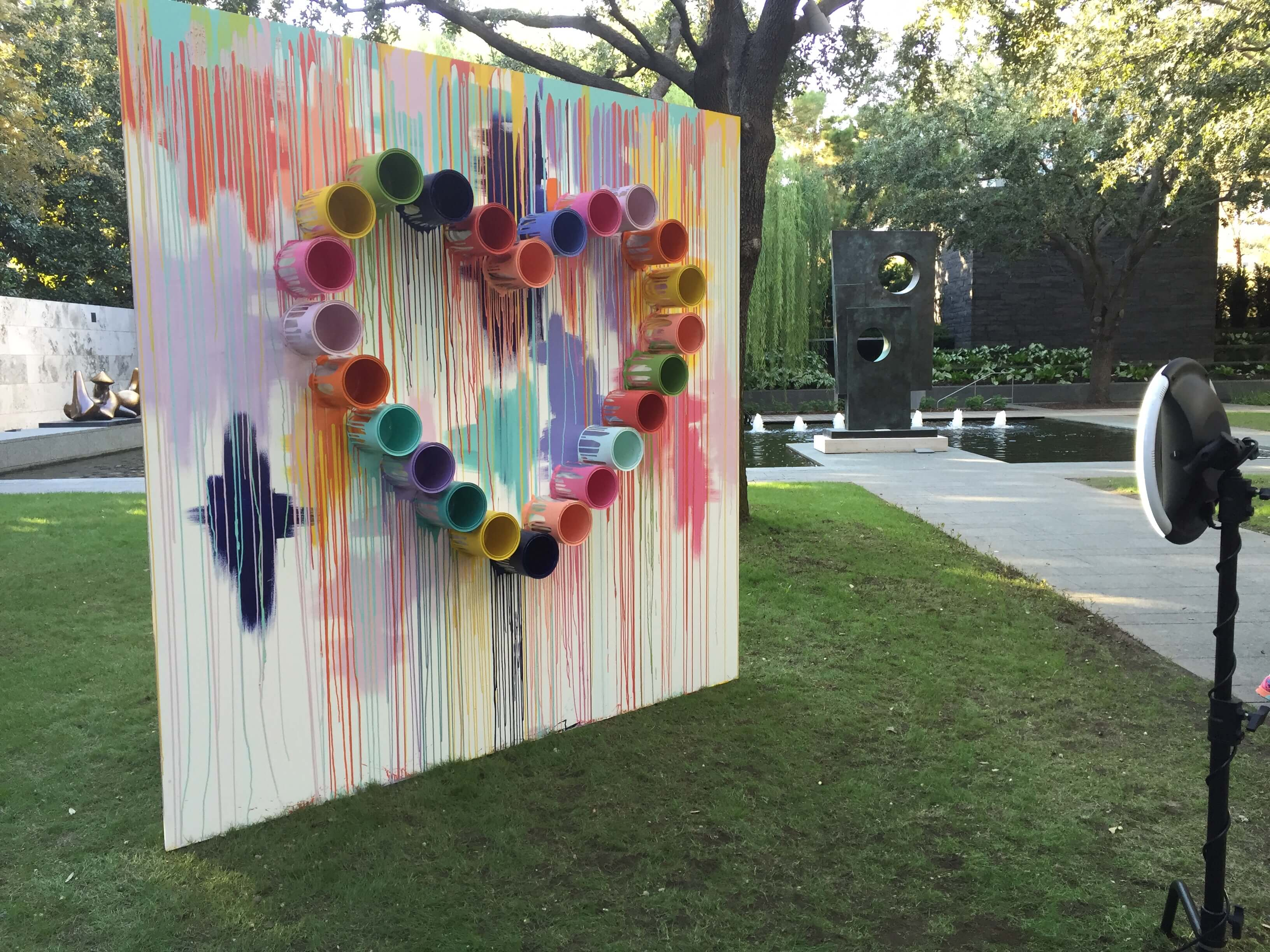 Party backdrop with heart