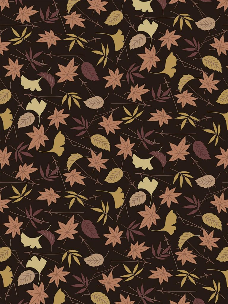 brown oak leaves repeating pattern