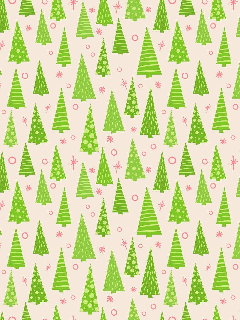 christmas tree patter wrapping paper