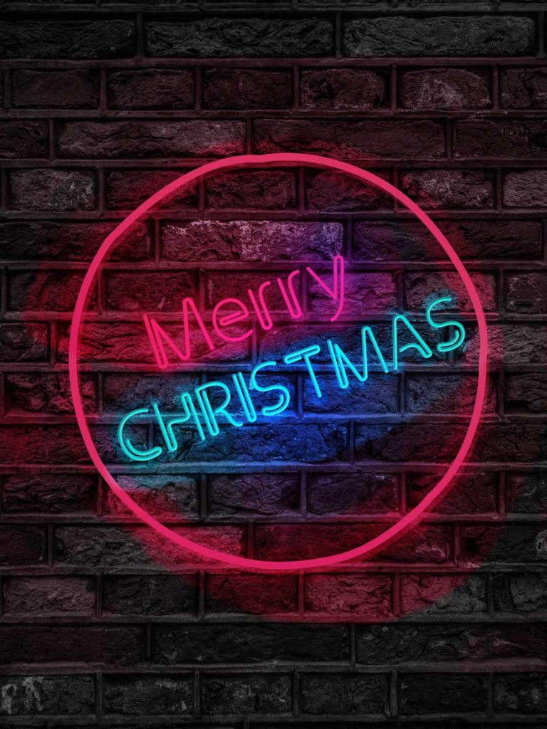 merry christmas neon light