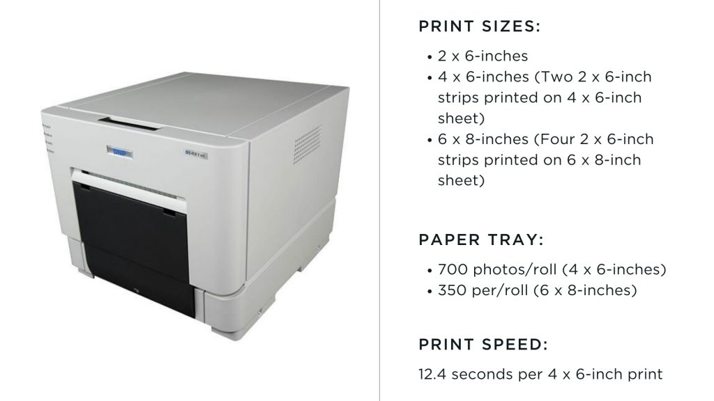 dnp photo booth printer