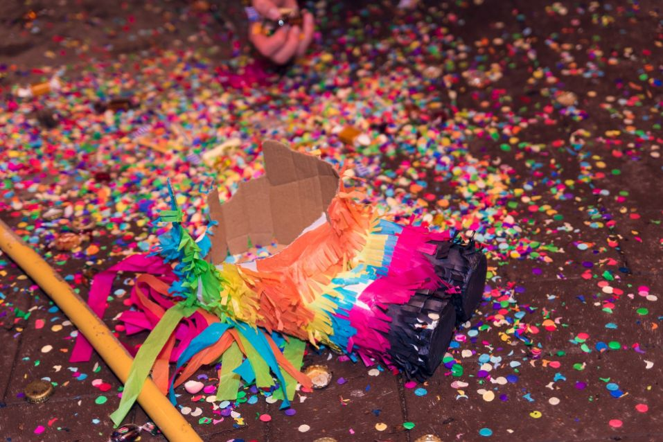 pinata laying on ground