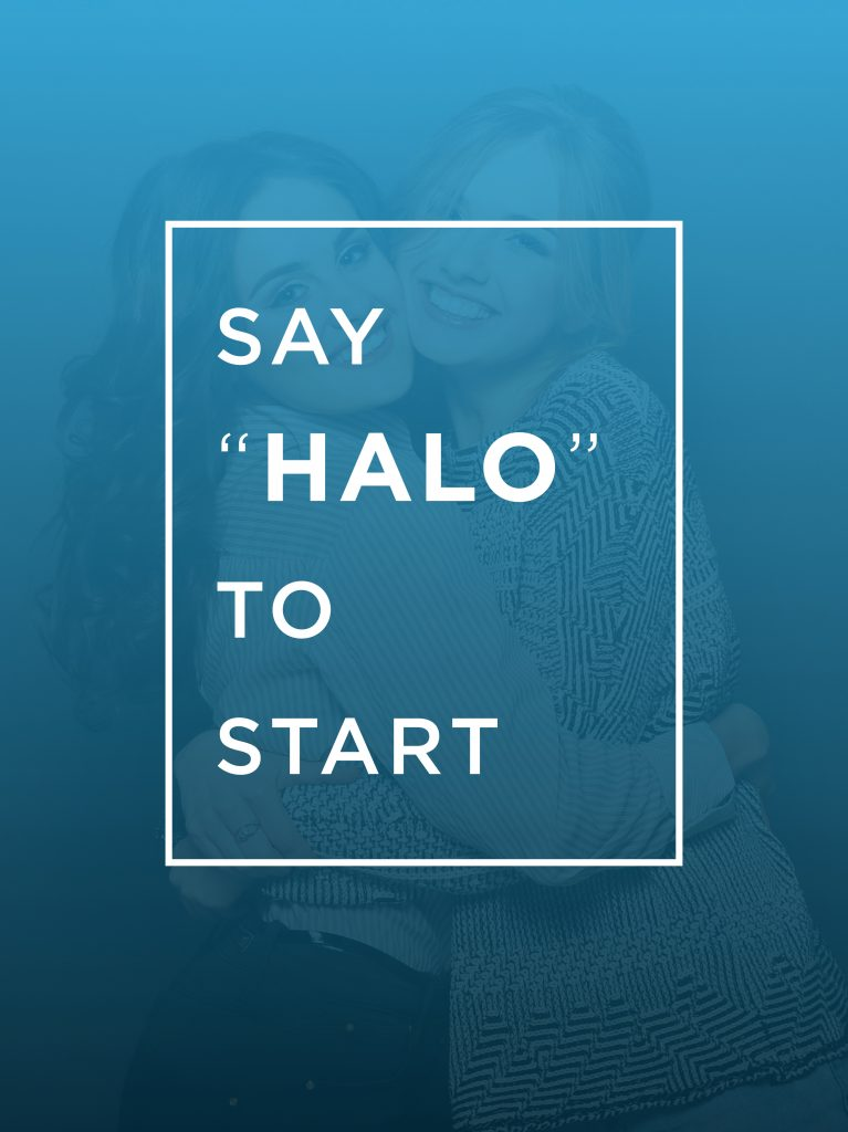 touchless photo booth HALO start screen